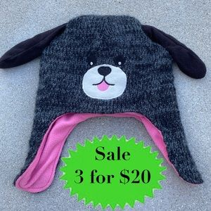 CHILDREN'S place kids Doggie hat cap winter hood